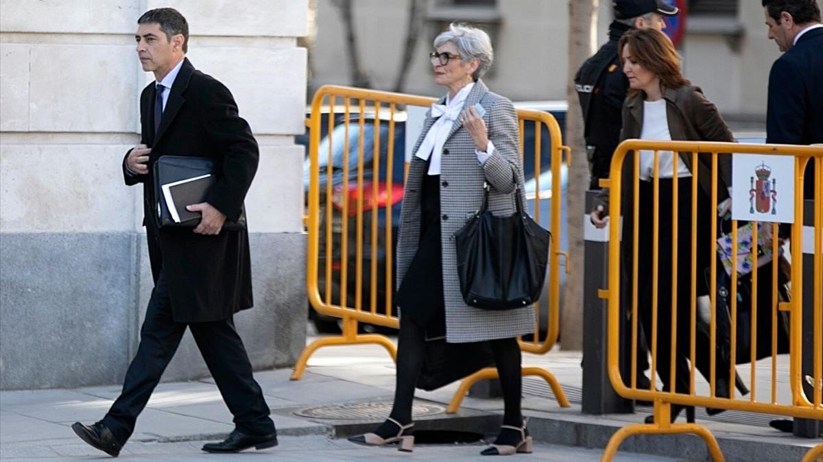 El Mayor Josep Lluis Trapero a la llegada al Tribunal Supremo