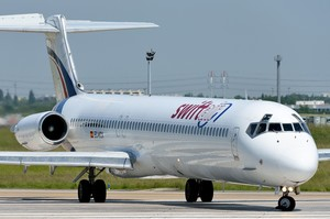 Model MD-83 de Swiftair, en una imatge darxiu.