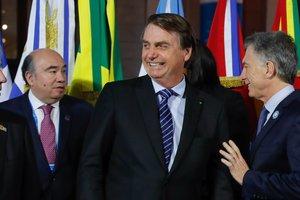 El presidente de Brasil, Jair Bolsonaro y el de Argentina, Mauricio Macri.