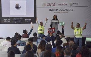 Subastas de bienes incautados en México.