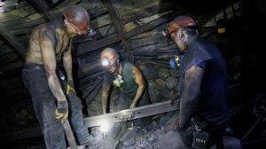 Mineros en Ucrania.