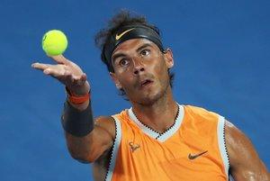 Rafael Nadal, durante el encuentro de segunda ronda de Australia.