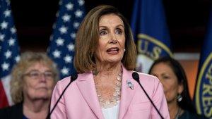 La presidenta de la Cámara de Representante, la demócrata Nancy Pelosi.