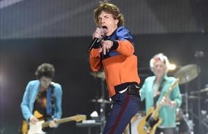 Los Rolling Stones, en una actuación el 7 de octubre en Indio, en California.
