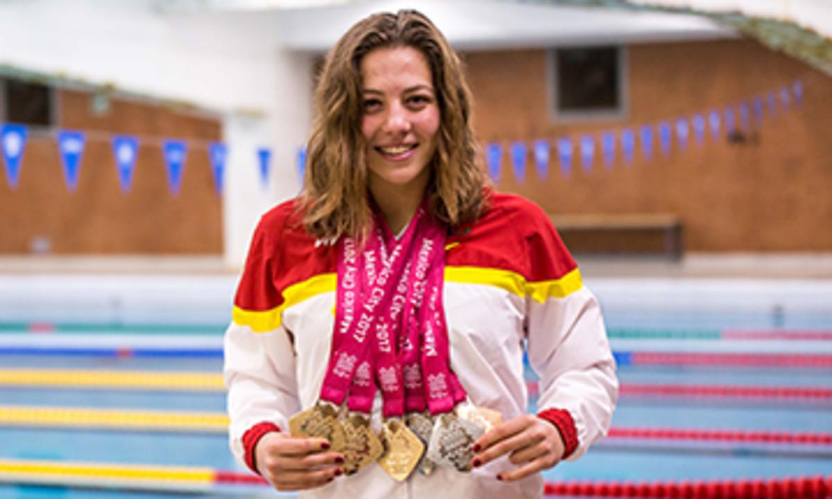 Núria Marqués, con sus seis medallas.