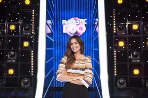 Nuria Roca, en el plató del programa Fantastic dúo, que emitió TVE-1.