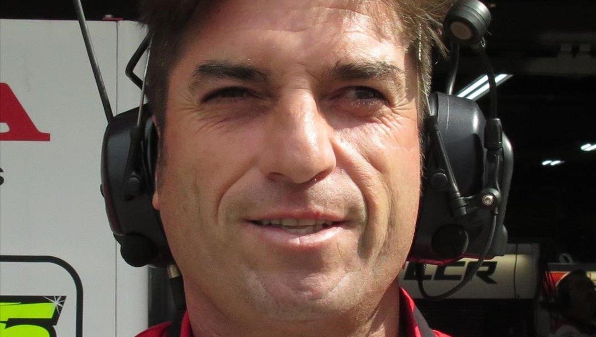 Óscar Haro, el director deportivo del equipo LCR Honda, de MotoGP.