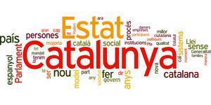 Nube con las 50 palabras más repetidas por Artur Mas durante su intervención en el debate de investidura.