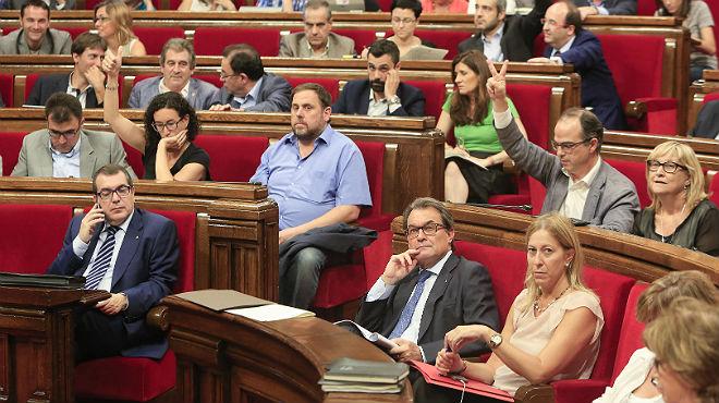 CiU es el único grupo parlamentario que ha votado en contra de la reprobación de Pujol.