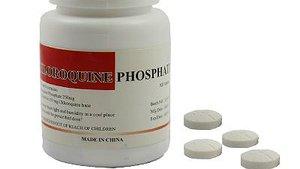 Pastillas de fosfato de cloroquina, fármaco que se ha demostrado eficaz contra el coronavirus.