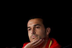 Pedro Rodríguez, en rueda de prensaen la Isla de Ré (Francia), donde la selección española se concentra para participar en la Eurocopa 2016.