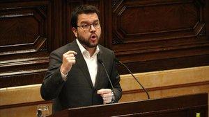 El vicepresidente del Govern, Pere Aragonès, en el Parlament