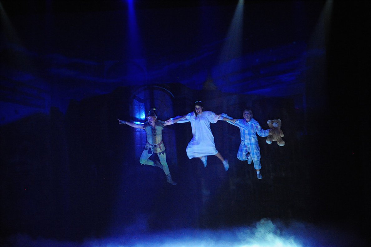 La escena del vuelo de 'Peter Pan, el musical'.