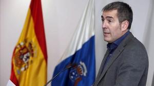 El presidente de Canarias, Fernando Clavijo, el pasado viernes, 23 de diciembre, tras anunciar la ruptura del pacto con el PSOE.