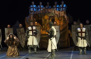 Primera representación, en Cuenca, de La conquista de Jerusalén por Godofre de Bullo, obra atribuida a Cervantes.