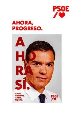El programa del PSOE para el Congreso.