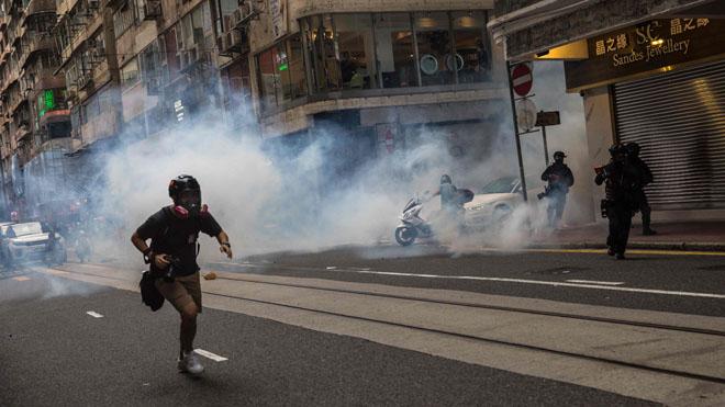 Desde temprana hora comenzaron las protestas contra la ley de seguridad en Hong Kong