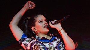 Rosalía, actuando en Nueva York el pasado abril.