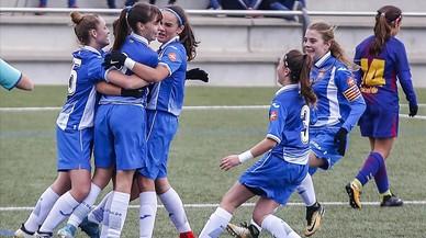 El Espanyol arrasa en el fútbol base femenino