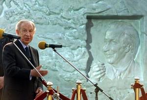 Samaranch habla durante un homenaje que recibió en Moscú, en el 2001.