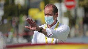 Christian Prudhomme ha vuelto al Tour tras la cuarentena.