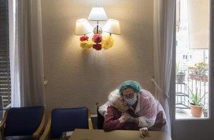 La residencia de ancianos La Pau (Barcelona), el pasado mayo.