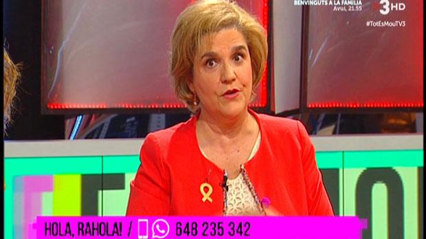 Pilar Rahola, a 'Tot es mou' (TV-3).