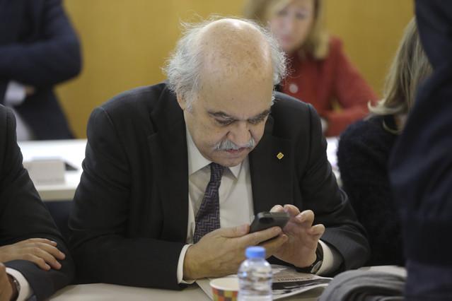 Mas-Colell en la reunión de la ejecutiva de CDC el lunes.