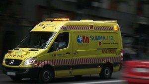 Una ambulancia del Servicio de Urgencias Médicas (SUMMA) 112 de Madrid.