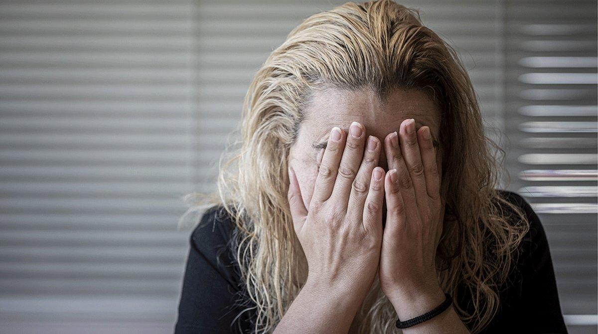 Una víctima de la violencia machista residente en València, el 2 de julio.