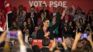 Pedro Sánchez, el pasado viernes en Castellón.