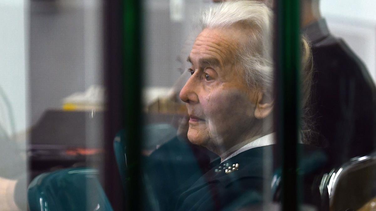 Ursula Haverbeck, en un juzgado de Berlín, el pasado octubre del 2017