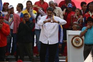 El presidente de Venezuela,Nicolas Maduro,participa en un acto de gobiernoen Caracas.