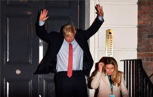 Boris Johnson, tras conocer su victoria.