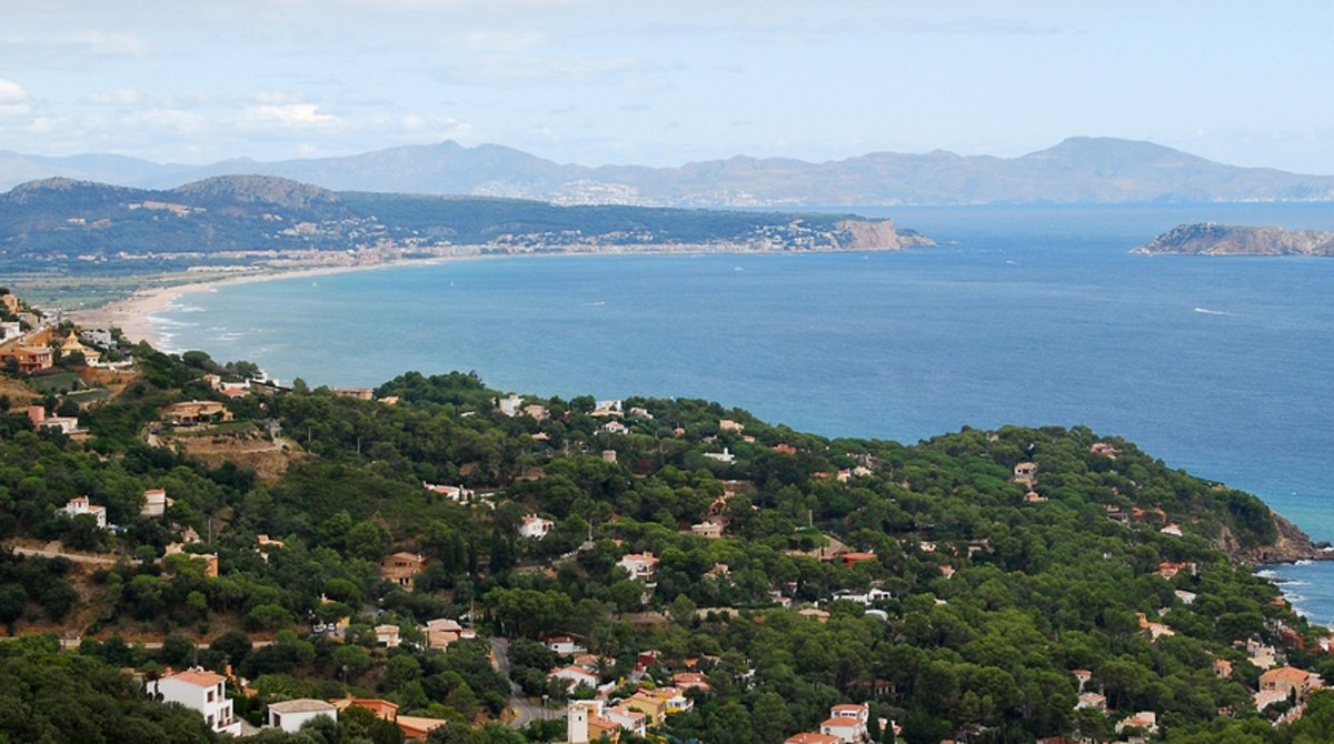 Vista aérea de la zona de Begur, en la Costa Brava.