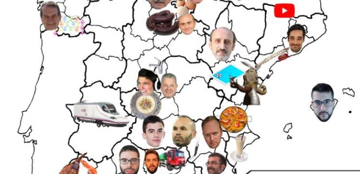 El mapa d'Espanya definitiu: això és del que presumeix cada província