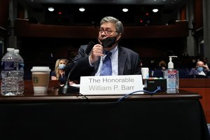 William Barr, fiscal general de EEUU, durante su comparecencia en el Congreso.
