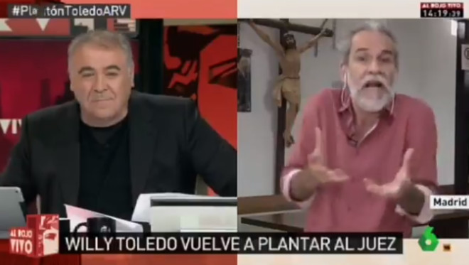 Bronca en directe de Willy Toledo a Ferreras