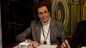 Montserrat Trueta en un acto en el Ayuntamiento de Barcelona, en 2013.