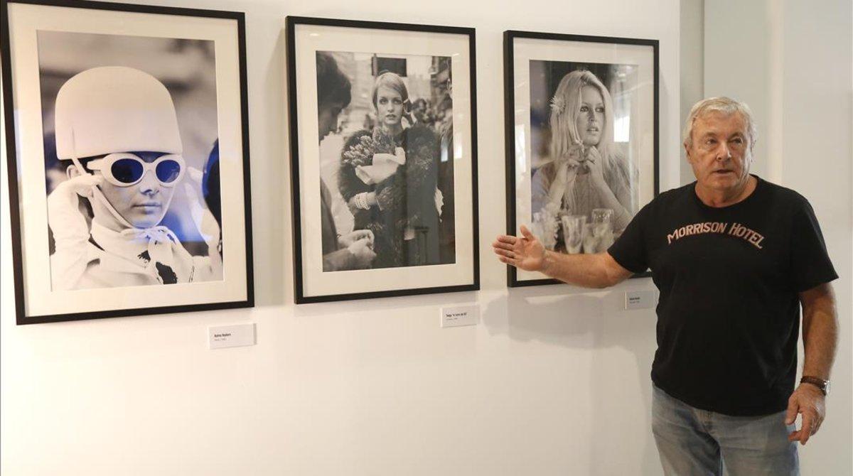 Terry O'Neill, en una exposición de su obra en Madrid, en el 2013.