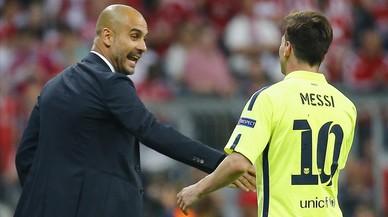 Pep y Messi, juntos y separados