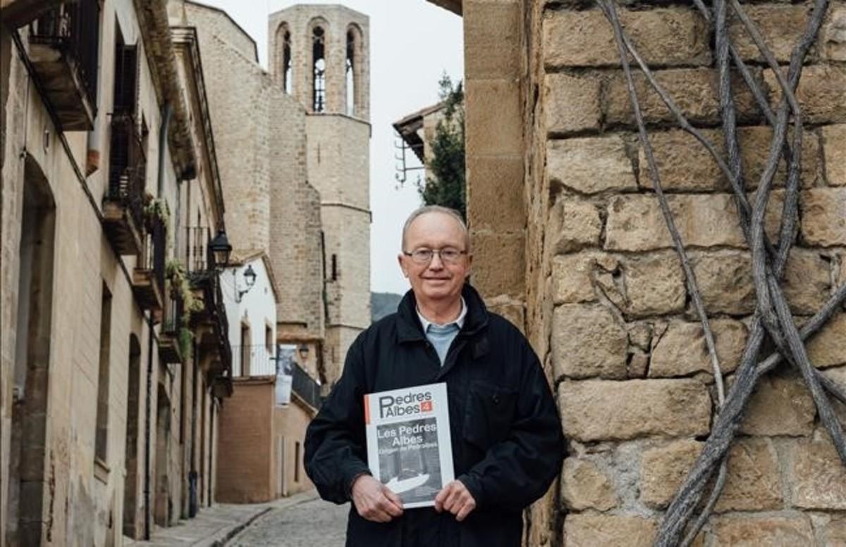 Luís Sangas, en el monasterio de Pedralbes, este martes.