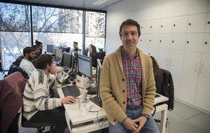 Àngel Garrido, en las oficinas de Voxel Group, en Barcelona