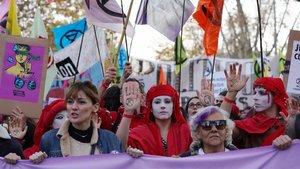 Manifestación en Madrid con motivo de la cumbre del clima.