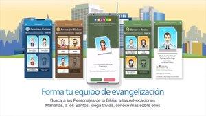 Imagen promocional de la aplicación para teléfonos móviles del videojuegoFollow JC Go!.