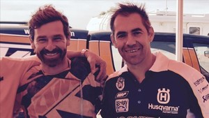 André Villas-Boas y Ruben Faria, que le hará de copiloto