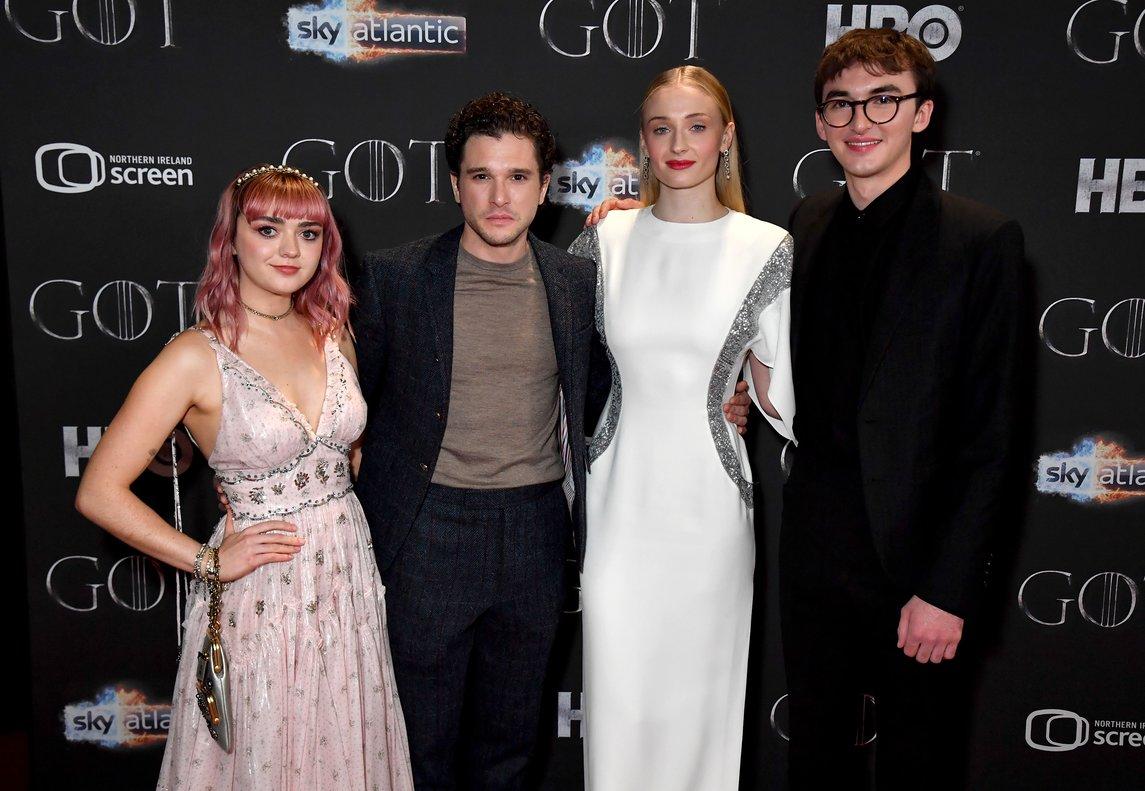 Los actores que interpretan a los hijos de la familiaStark.