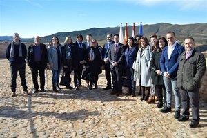 El ministro de Fomento José Luis Ábalos en la inauguración del castillo de Arnedo.