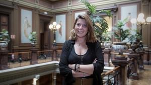 Alexandra Colominas, este miércoles, en el Col.legi de lAdvocacia de Barcelona.