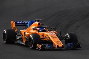 Fernando Alonso con el coche McLaren en el circuito de Montmeló.